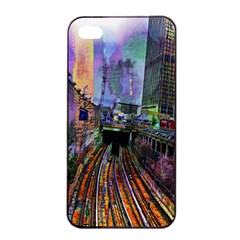 Downtown Chicago City Apple iPhone 4/4s Seamless Case (Black)