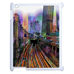 Downtown Chicago City Apple Ipad 2 Case (white)