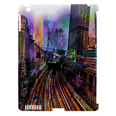Downtown Chicago City Apple iPad 3/4 Hardshell Case (Compatible with Smart Cover)