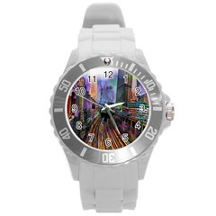 Downtown Chicago City Round Plastic Sport Watch (L)
