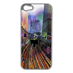 Downtown Chicago City Apple iPhone 5 Case (Silver)