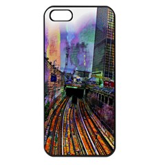 Downtown Chicago City Apple iPhone 5 Seamless Case (Black)