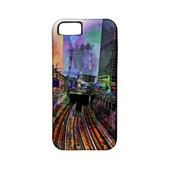 Downtown Chicago City Apple iPhone 5 Classic Hardshell Case (PC+Silicone)
