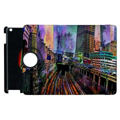 Downtown Chicago City Apple Ipad 2 Flip 360 Case