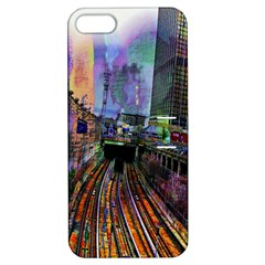 Downtown Chicago City Apple iPhone 5 Hardshell Case with Stand