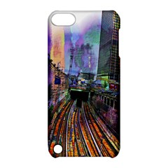 Downtown Chicago City Apple iPod Touch 5 Hardshell Case with Stand