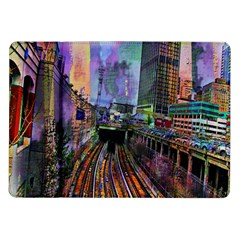 Downtown Chicago City Samsung Galaxy Tab 10 1  P7500 Flip Case