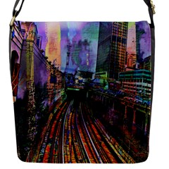 Downtown Chicago City Flap Messenger Bag (S)