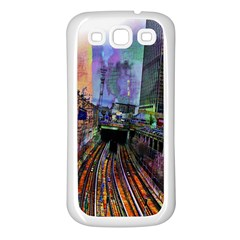 Downtown Chicago City Samsung Galaxy S3 Back Case (White)