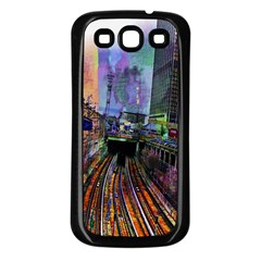 Downtown Chicago City Samsung Galaxy S3 Back Case (black)