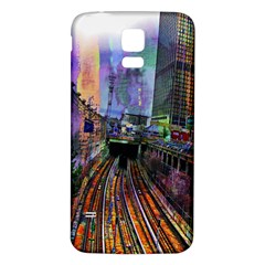Downtown Chicago City Samsung Galaxy S5 Back Case (white)