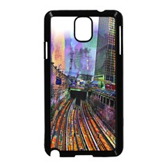 Downtown Chicago City Samsung Galaxy Note 3 Neo Hardshell Case (black)