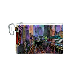Downtown Chicago City Canvas Cosmetic Bag (S)
