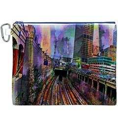 Downtown Chicago City Canvas Cosmetic Bag (xxxl)