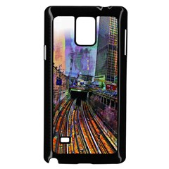 Downtown Chicago City Samsung Galaxy Note 4 Case (Black)