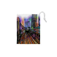 Downtown Chicago City Drawstring Pouches (XS)