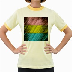 Brickwall Women s Fitted Ringer T Shirts