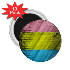 Brickwall 2 25  Magnets (10 Pack)
