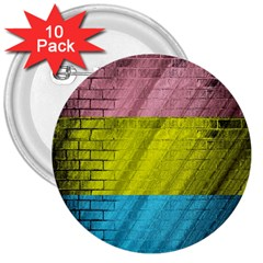 Brickwall 3  Buttons (10 Pack)