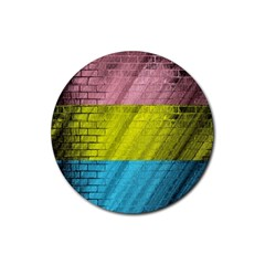 Brickwall Rubber Round Coaster (4 pack)