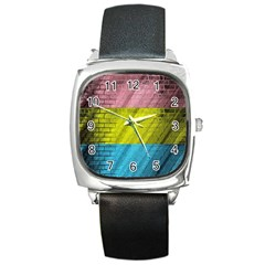 Brickwall Square Metal Watch