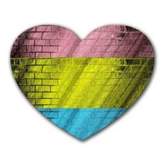 Brickwall Heart Mousepads