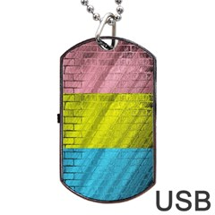 Brickwall Dog Tag Usb Flash (one Side)