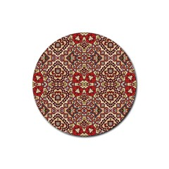 Seamless Pattern Based On Turkish Carpet Pattern Rubber Coaster (Round)