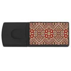 Seamless Pattern Based On Turkish Carpet Pattern Usb Flash Drive Rectangular (4 Gb)