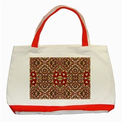 Seamless Pattern Based On Turkish Carpet Pattern Classic Tote Bag (Red)