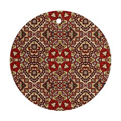Seamless Pattern Based On Turkish Carpet Pattern Round Ornament (Two Sides)