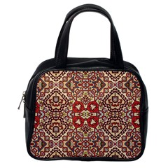 Seamless Pattern Based On Turkish Carpet Pattern Classic Handbags (one Side)