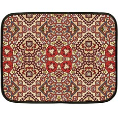 Seamless Pattern Based On Turkish Carpet Pattern Double Sided Fleece Blanket (Mini)