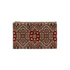 Seamless Pattern Based On Turkish Carpet Pattern Cosmetic Bag (Small)