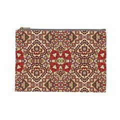 Seamless Pattern Based On Turkish Carpet Pattern Cosmetic Bag (Large)