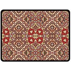 Seamless Pattern Based On Turkish Carpet Pattern Fleece Blanket (Large)