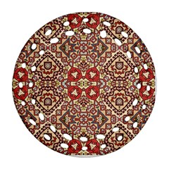 Seamless Pattern Based On Turkish Carpet Pattern Round Filigree Ornament (Two Sides)