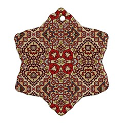Seamless Pattern Based On Turkish Carpet Pattern Snowflake Ornament (Two Sides)