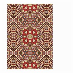 Seamless Pattern Based On Turkish Carpet Pattern Small Garden Flag (Two Sides)