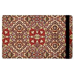 Seamless Pattern Based On Turkish Carpet Pattern Apple iPad 2 Flip Case