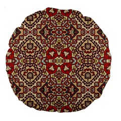 Seamless Pattern Based On Turkish Carpet Pattern Large 18  Premium Round Cushions