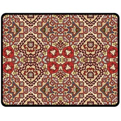 Seamless Pattern Based On Turkish Carpet Pattern Double Sided Fleece Blanket (Medium)