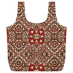 Seamless Pattern Based On Turkish Carpet Pattern Full Print Recycle Bags (l)