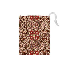 Seamless Pattern Based On Turkish Carpet Pattern Drawstring Pouches (Small)