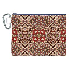 Seamless Pattern Based On Turkish Carpet Pattern Canvas Cosmetic Bag (XXL)