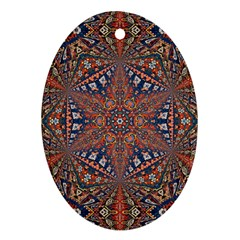 Armenian Carpet In Kaleidoscope Ornament (Oval)