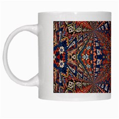 Armenian Carpet In Kaleidoscope White Mugs