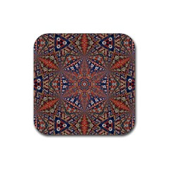 Armenian Carpet In Kaleidoscope Rubber Square Coaster (4 Pack)