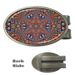 Armenian Carpet In Kaleidoscope Money Clips (oval)