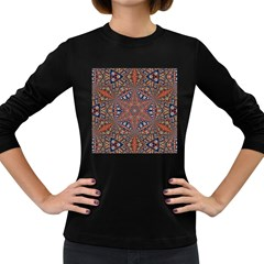 Armenian Carpet In Kaleidoscope Women s Long Sleeve Dark T Shirts